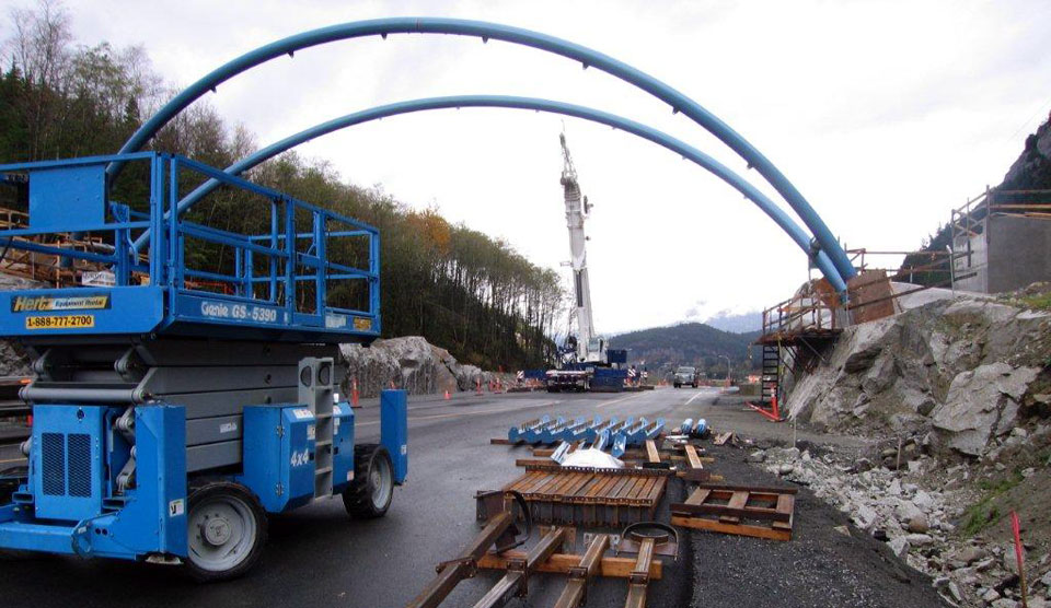 Welding the Chief Pedestrian Overpass in Squamish BC